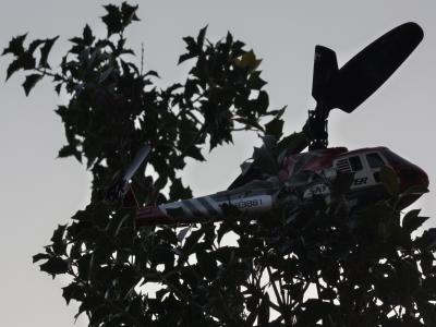引っかかったヘリコプター