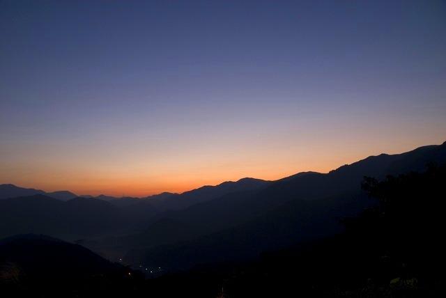 明智峠の朝焼け1