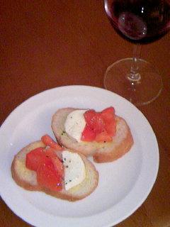 フランスパン&トマト&モツァレラチーズ