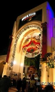 usj クリスマス 夜の門