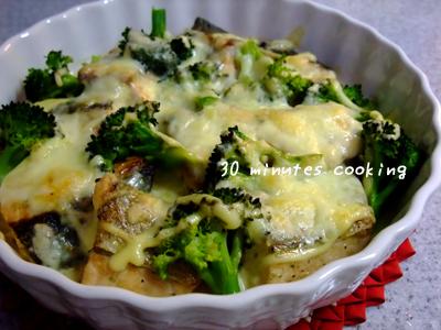 鮭とブロッコリーのマヨチーズ焼き
