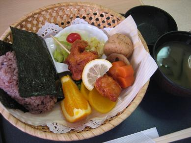 黒米のおむすび弁当
