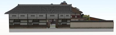 2-清閑寺家邸(西から全体図)