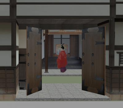 3-清閑寺家邸(玄関式台)