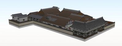 6-清閑寺家邸(北西から俯瞰)