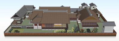7-清閑寺家邸(南から俯瞰)