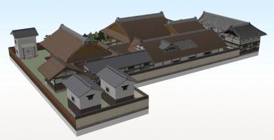 8-清閑寺家邸(北東から俯瞰)