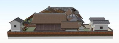10-清閑寺家邸(東から全体図)