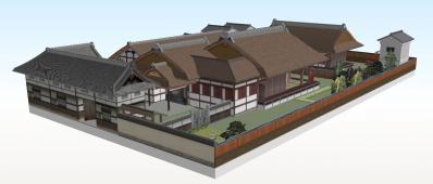 1-清閑寺家邸(南西から俯瞰)