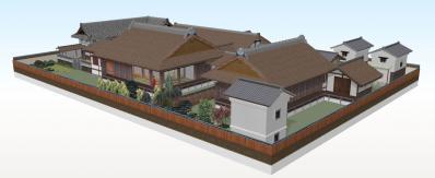 5-清閑寺家邸(南東から俯瞰)