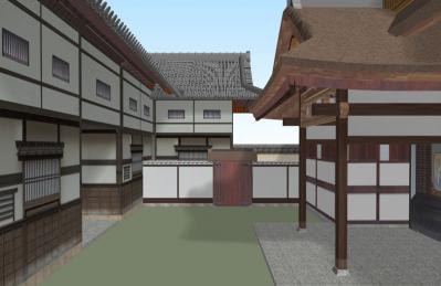 12-清閑寺家邸(裏門から)