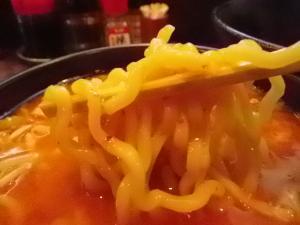 11012920破天・辛味噌つけ麺 麺 in スープ