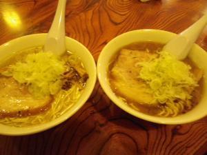 11020519のかぜ・㊨煮干醤油ラーメン 600円 ㊧煮干塩ラーメン 600円