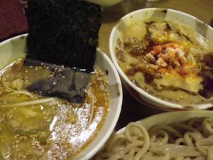 11021214○汁屋・㊧醤油つけ麺&㊨味噌つけ麺