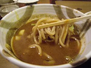 11021314○汁屋・限定メニュー グリーンカレーつけ麺 麺 in 醤油スープ