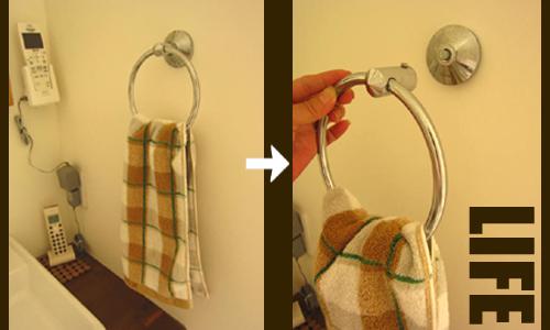 2F洗面所のタオル掛け