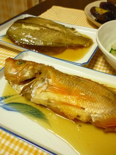 煮魚の夕飯