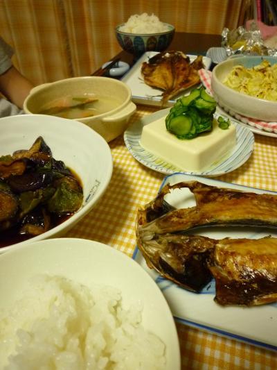 夏のある日の晩御飯