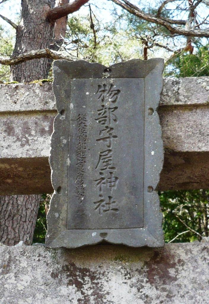 守屋神社額