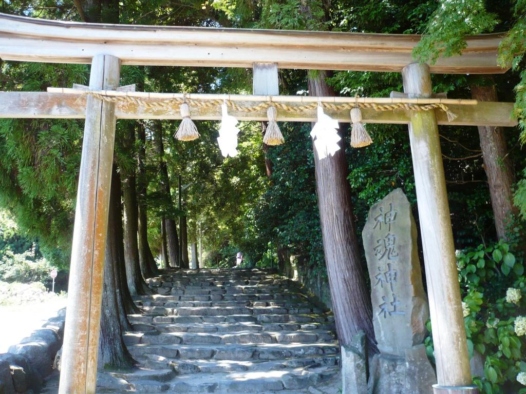 神魂神社石段