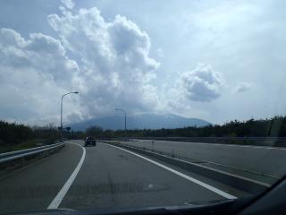 富士山は雲の中