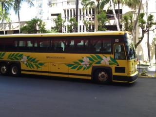 迎えのバス