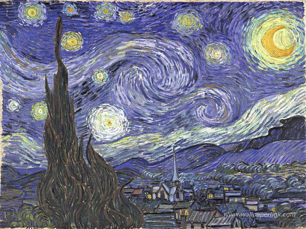 ゴッホ『星・月・夜』