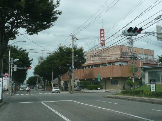 金沢市・増泉三丁目交差点(北向き全景、10.8.31)