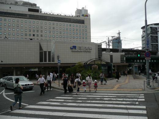 神戸市・JR三ノ宮駅(中央口北側、10.9.1)