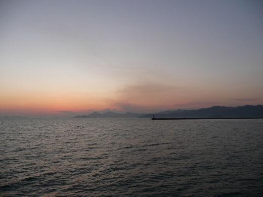 倉敷市・玉島黒崎方向風景(玉島ハーバーアイランドより その1、10.12上旬)