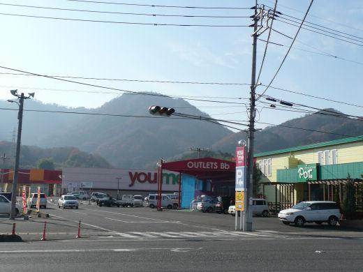 真庭市・ゆめタウン久世東側信号交差点(南西向き風景、10.12上旬)