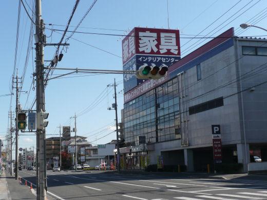 岡山市北区・今村宮北側信号交差点(東向き風景、10.11中旬)