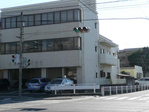 岡山市北区・今村宮北側信号交差点(南向き風景、10.11中旬)