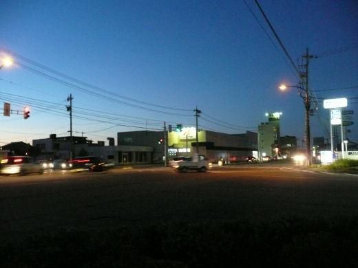 砺波市国道156号・花園町交差点(北向き風景、10.8.31)