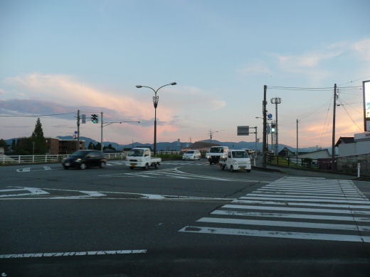砺波市国道156号・栄町交差点(南向き風景、10.8.31)