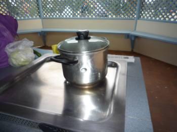 圧力鍋 on BBQ