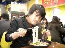牛肉麺と社長