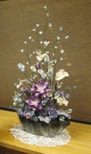 紙粘土のお花