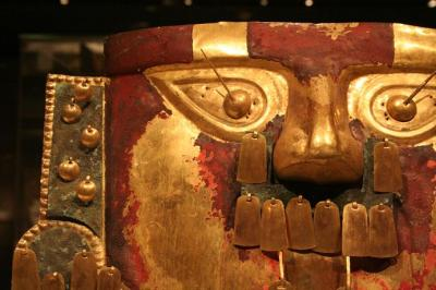 A Sican ceremonial mask