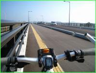 新しい鮫川に架かる橋