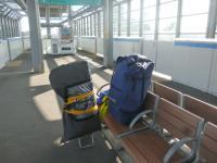 野跡駅にて 20130309