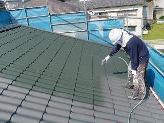 04 トタン屋根中塗り