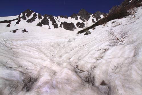 残雪覆う千畳敷