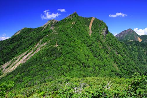 三ツ岳から権現岳を