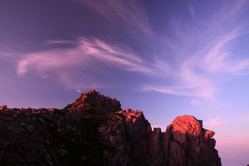 宝剣岳と天狗岩の