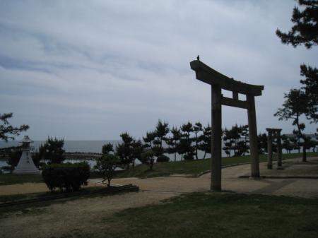 海の見える神社