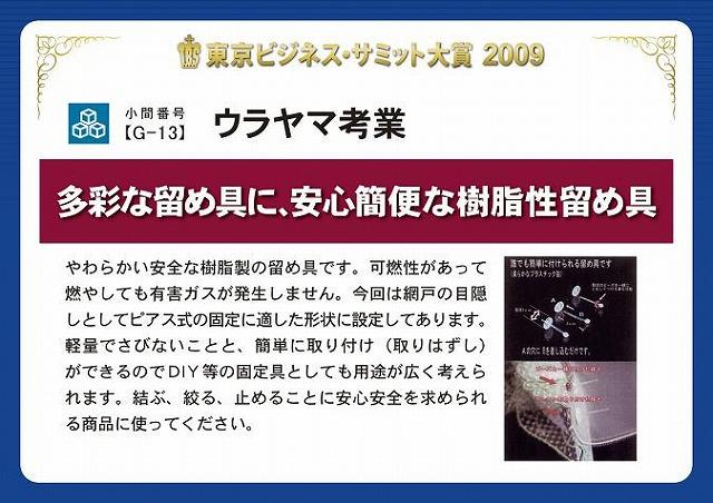 東京ビジネスサミット大賞 パネル
