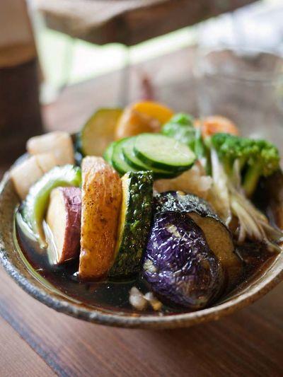 蕎麦 いち 揚げ野菜のおろしそば つけ汁