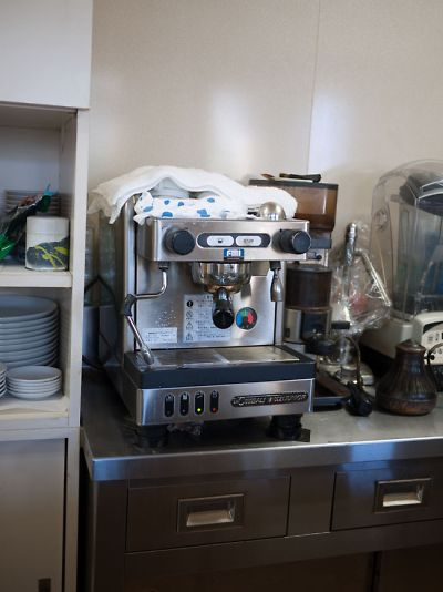 ブルーレイコーヒー チンバリのマシン