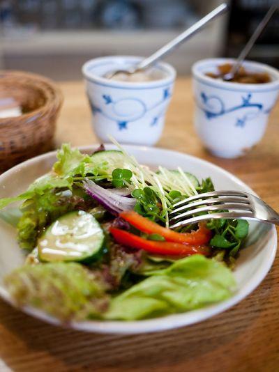ブルーレイコーヒー セットのサラダ